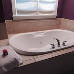 Garden Room: Chromatherapy Whirlpool Tub for Two - with tea bath off to the side
