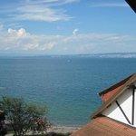 Blick aus dem Fenster unseres Zimmers (es war Nr.47)