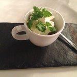Gambas sauce wok & Chantilly Citronée