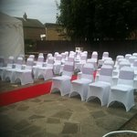 Outside seating (for ceremony)