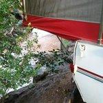 Pikes Peak RV Campsite along the stream.