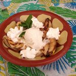 Grilled Bananas with Rum Cream
