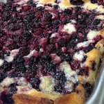 Locally picked, homemade Black Berry Cobbler! Served with a scoop of ice cream