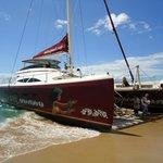 The beautiful Hula Girl catamaran