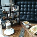 Afternoon tea and club sandwich