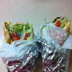 1 gyro 1 falafel