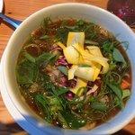 Northwest Pho---a garden in a bowl of tasty comfort at Doe Bay Cafe