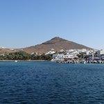 Aussicht auf Piso Livadi vom Meer