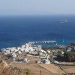 Aussicht auf Piso Livadi von Agios Antonio