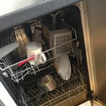 Dishwasher that hadn't been emptied for weeks