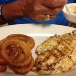 grouper and onion rings
