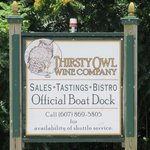 Thirsty Owl Winery boat dock!