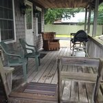 front porch of cottage
