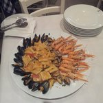 paccheri ai frutti di mare. La presentazione,è seconda solo alla bontà del piatto!