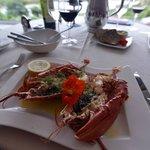 Fresh lobster dinner