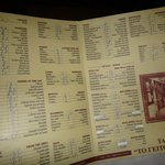 Menu (more than half, not available)