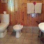 Bagno spazioso e funzionale.. meno per il lavandino