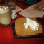 Cheesecake and the Strawberry Peach Cobbler