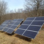 The solar panels Megan uses as eco-friendly alternative