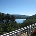el lago desde el camping Los Robles