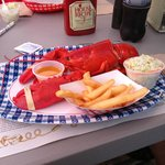 Lobster dinner at Maine-ly Delights