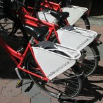 Rental Bikes outside Suissotel.  Book them early!