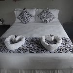 Double Bed with simple but stylish coverings