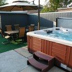 Patio and Hot Tub Area