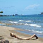 The beach by the Manta