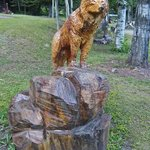 Sculpture made from one tree stump.