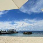 The beautiful private beach (again)