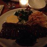 Delicious steak and rib combo $48