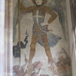 Fresco of Saint Michael.