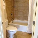 super clean shower with water run through softener so your skin wont dry out!