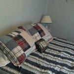 Comfy bed.