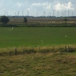 Windfarm from bedroom window