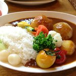 Biei vegetable curry rice - very good!