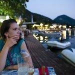 Sladjana, my girlfriend, with a distant look :-)