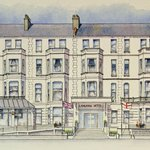 A Watercolour of Langham Hotel by Artist Andy Dunbar