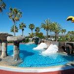Toboganes en la piscina