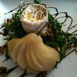 Goats Cheese, Poached Pear & Walnut Salad.