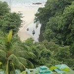 View from balcony to beach