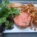 Salmon Tartar -- Japanese tempura gave it excellent texture