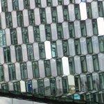particolare della struttura in vetro