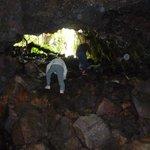 溶岩流トンネルへ