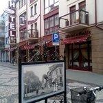 Hotellet sett från Monte Cassino
