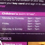 For all those moaning about there being kids in the pool - Go outside these times up til 10pm