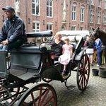 enjoying the horse drawn carriage tour