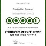 TripAdvisor Certificate 2012