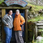 My sister and I at the mine entrance.